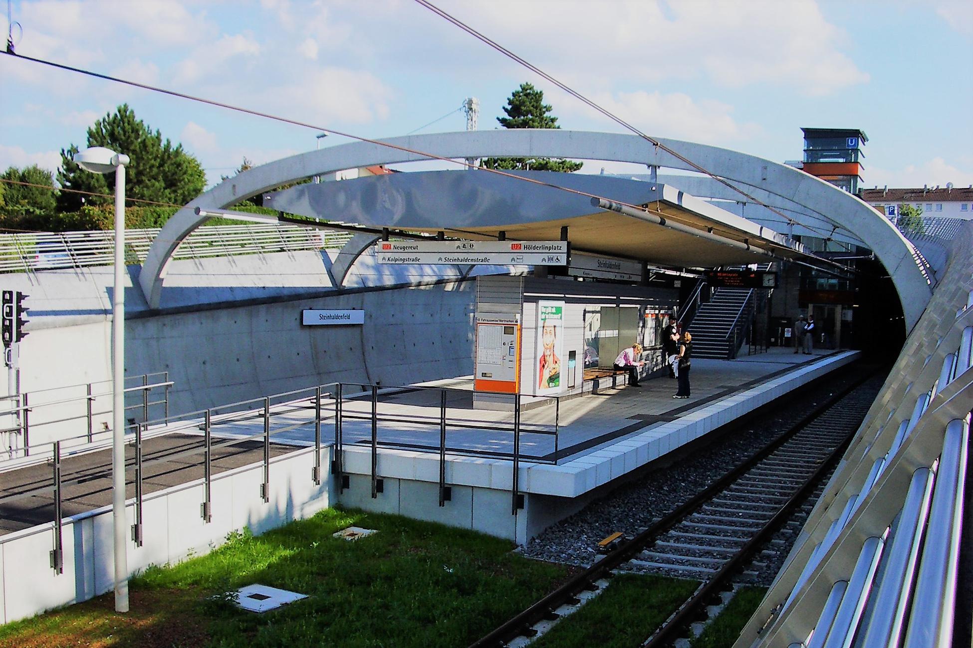 Neubau Stadtbahnhaltestelle Steinhaldenfeld